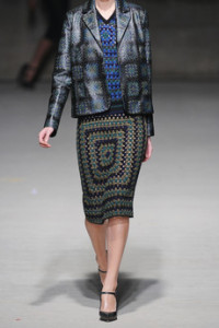 Should I? // Christopher Kane crochet skirt