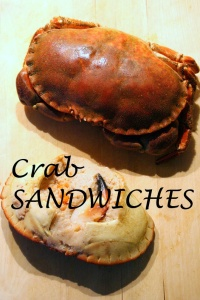 Delicious crab sandwiches