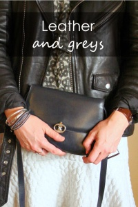 Leather, chiffon and greys