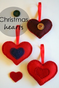 DIY // Christmas hearts