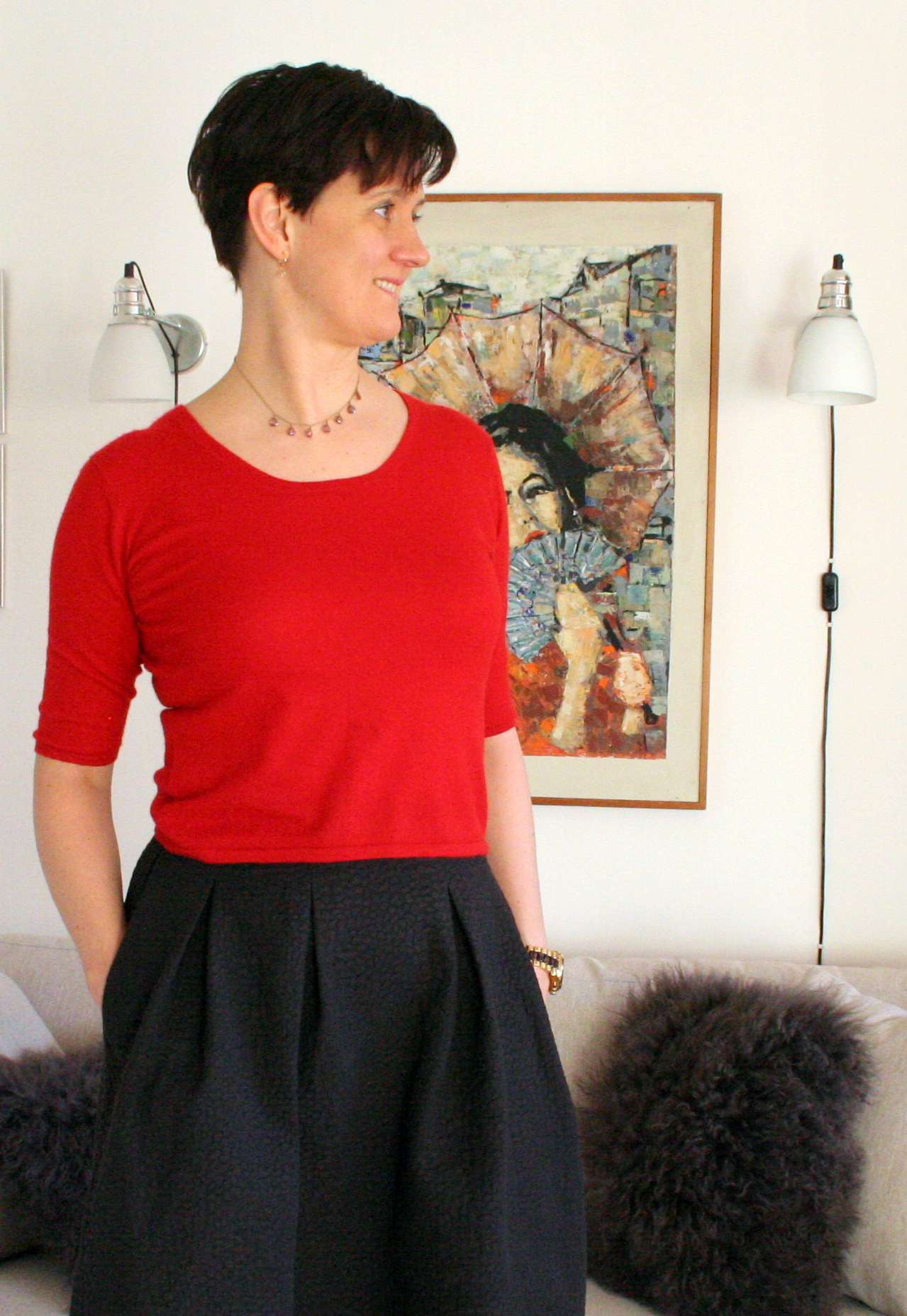 Tall girl's fashion // Dinner party in fuschia