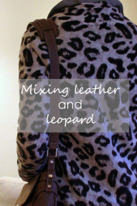 Feeling wild in leather and leopard