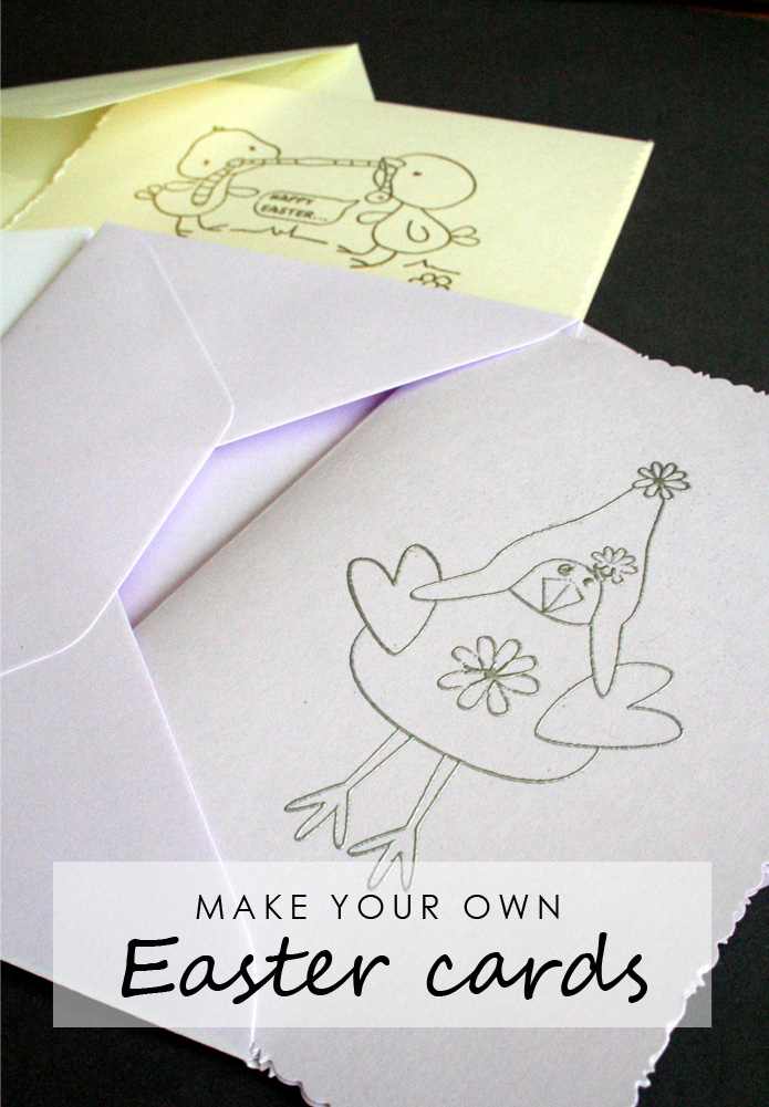 Tall girl's fashion // Make your own Easter cards