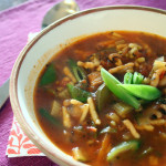 Tasty minestrone soup