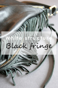 White structure & black fringe