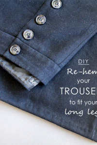 How To Re-hem Trousers To Fit Long Legs
