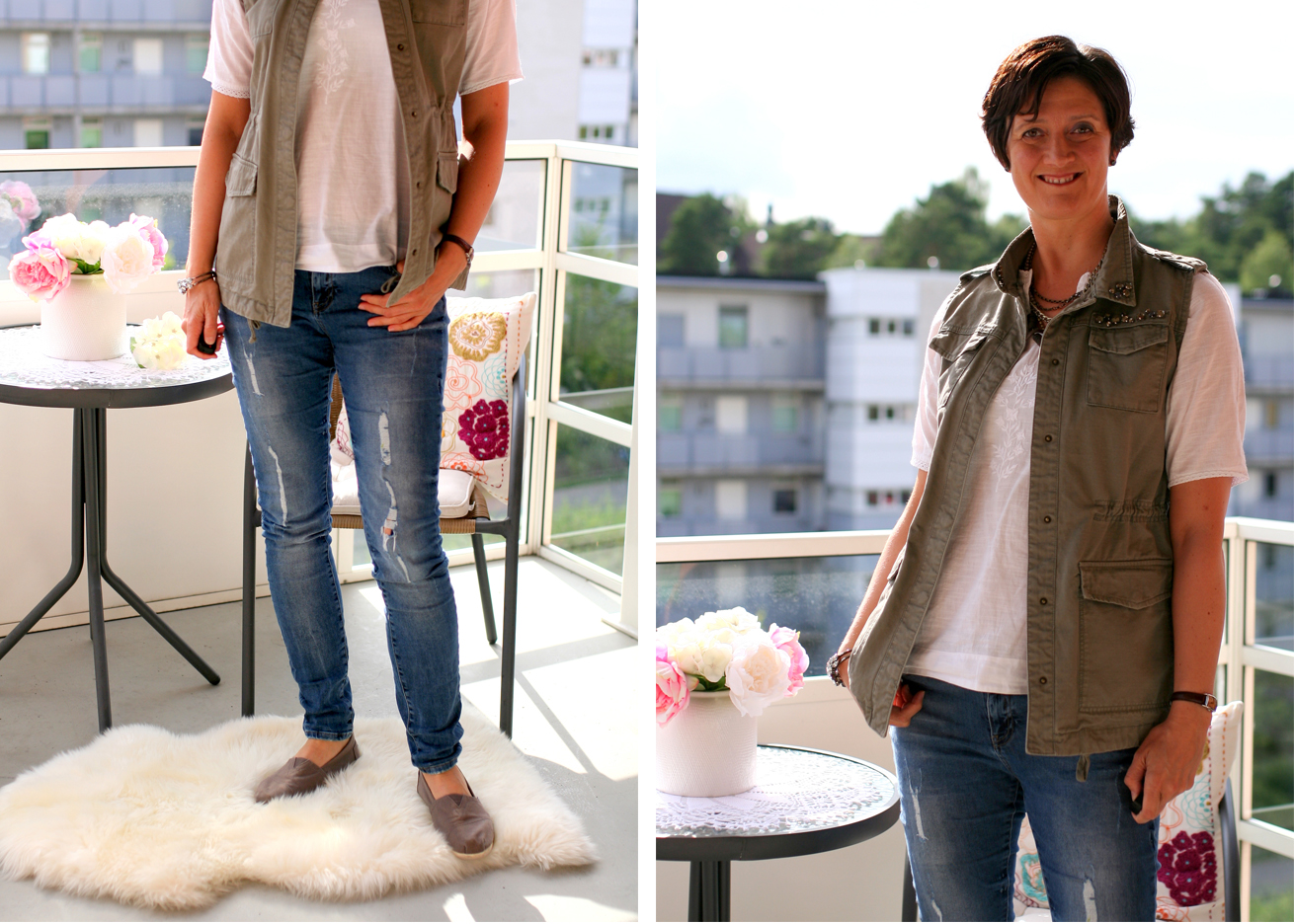 Tall Girl's Fashion // Lace top and distressed jeans