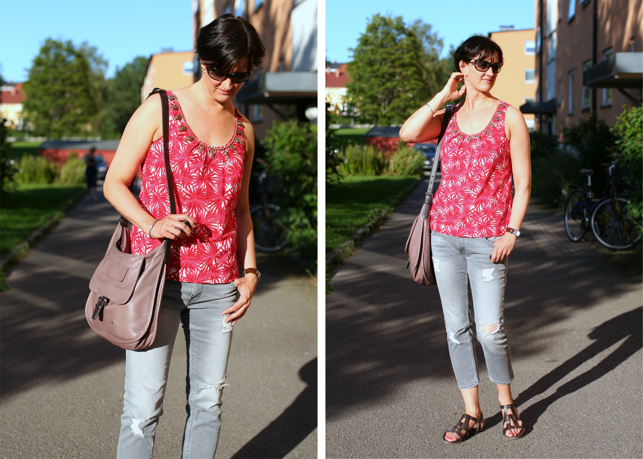 Tall Girl's Fashion // Styling grey jeans