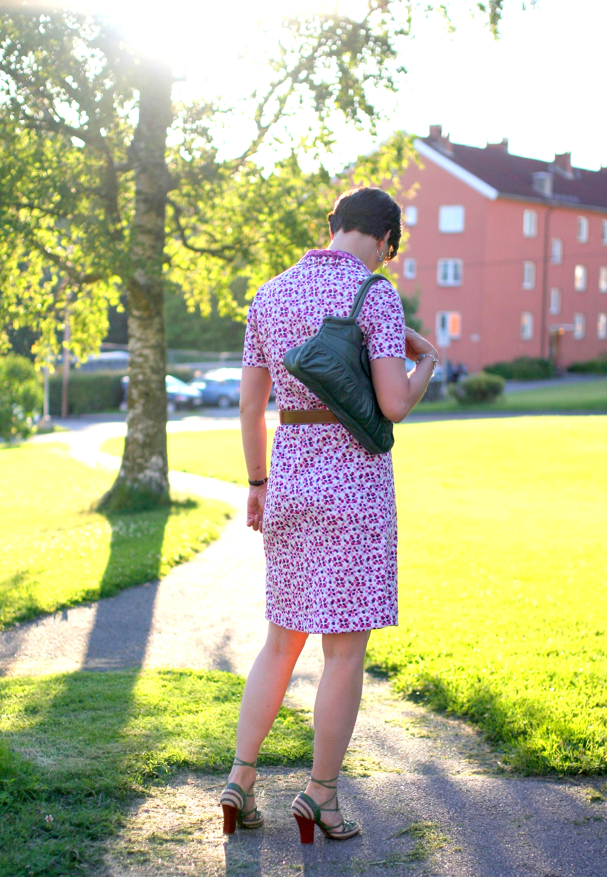 Tall Girl's Fashion // Vintage shirt dress reworked