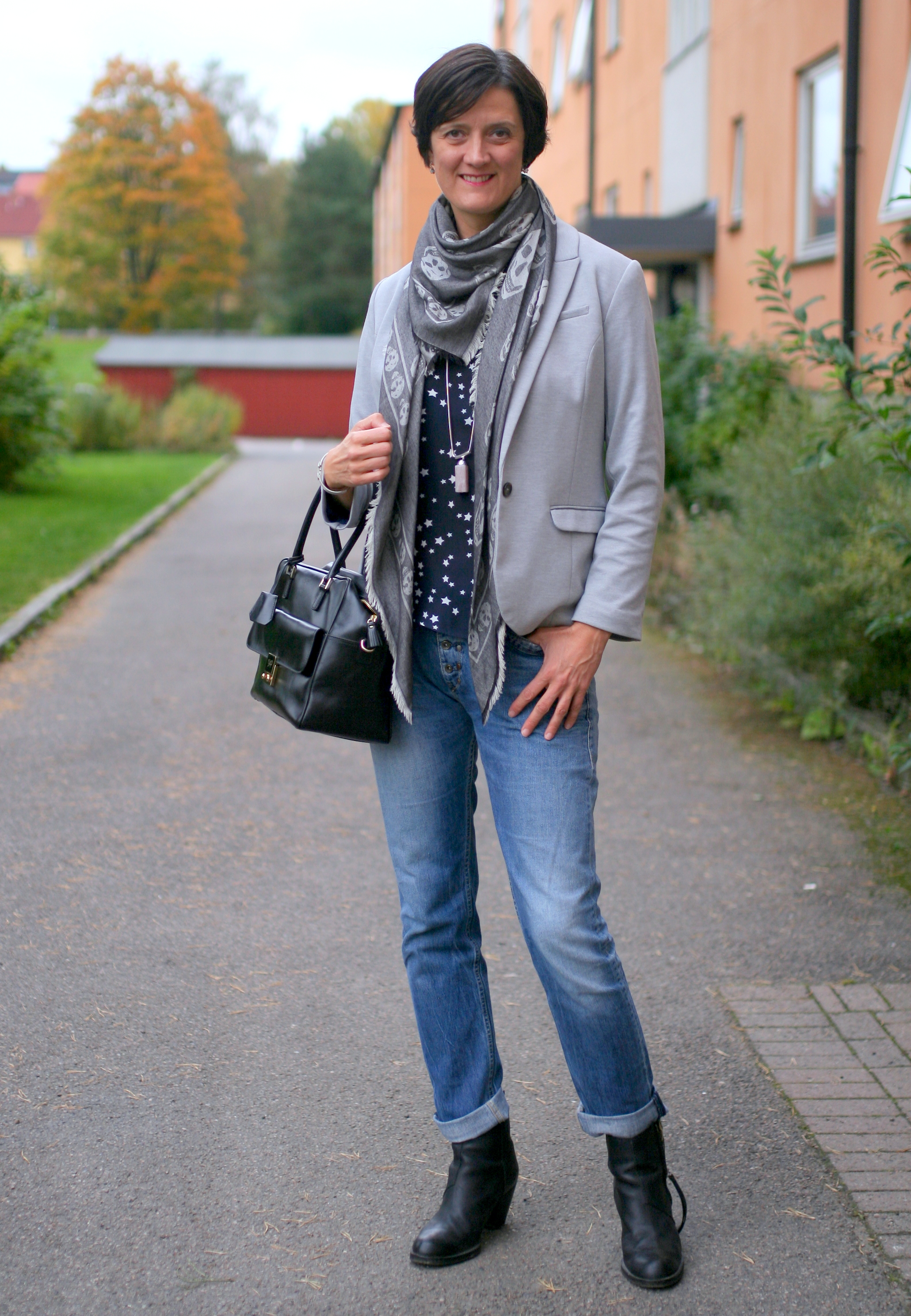Tall Girl's Fashion // Look smart in jeans and blazer