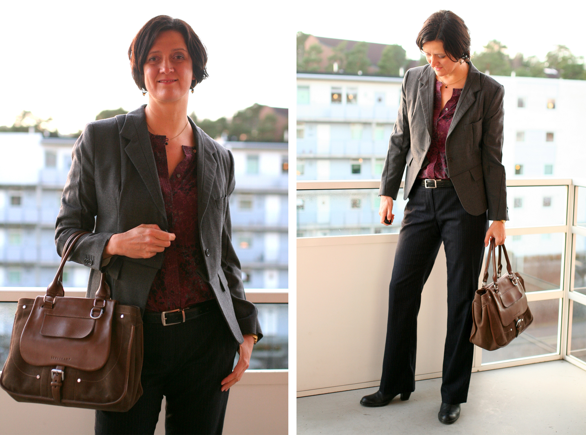 Tall Girl's Fashion // How to style a grey blazer