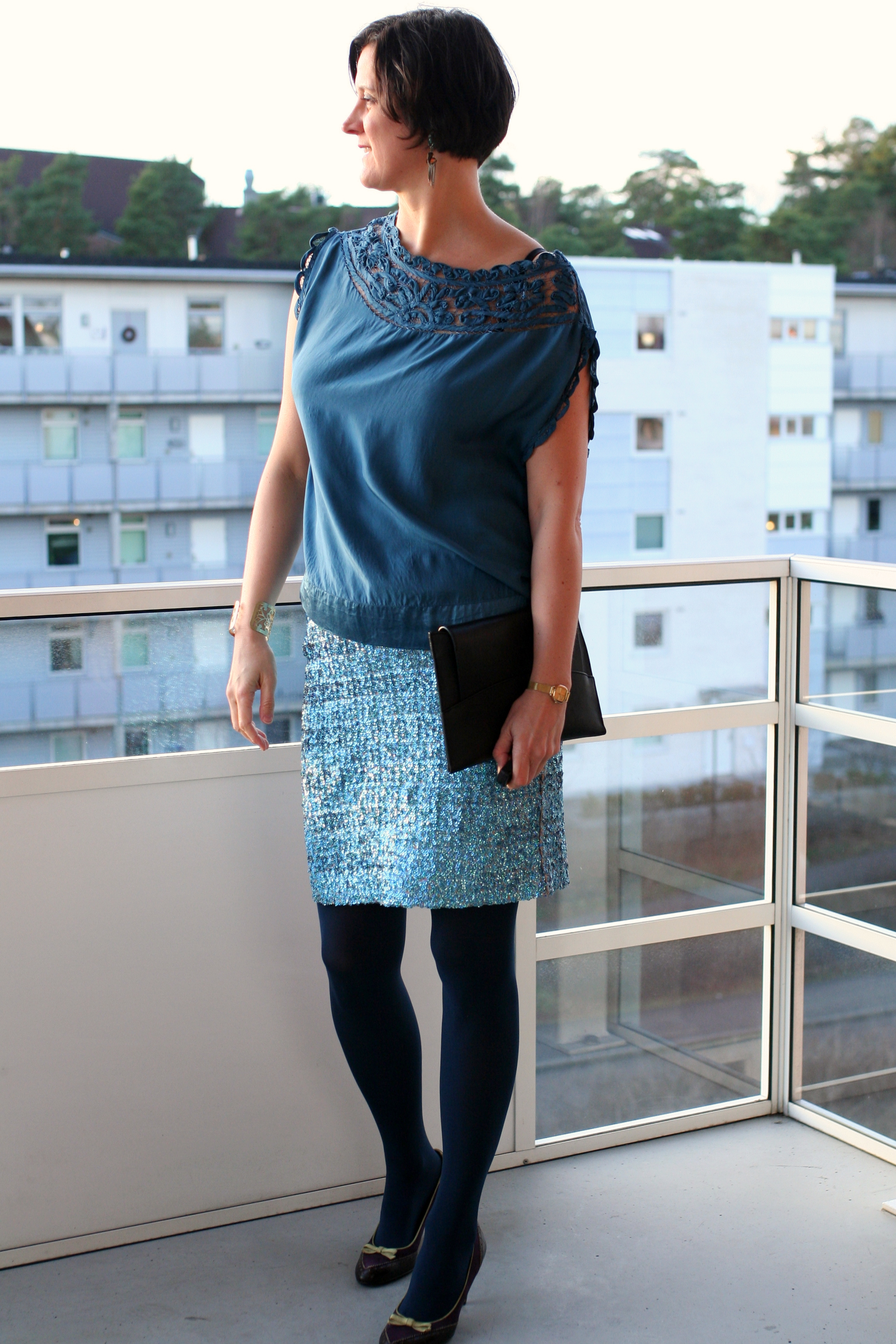 Tall Girl's Fashion // Pairing silk and sequins