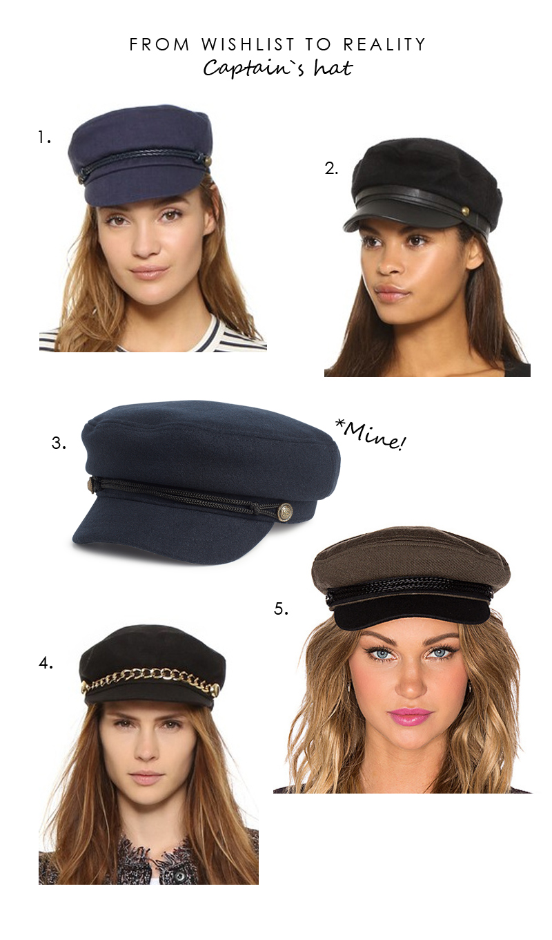 Tall Girl's Fashion // Wishlist to reality - Captain's hat