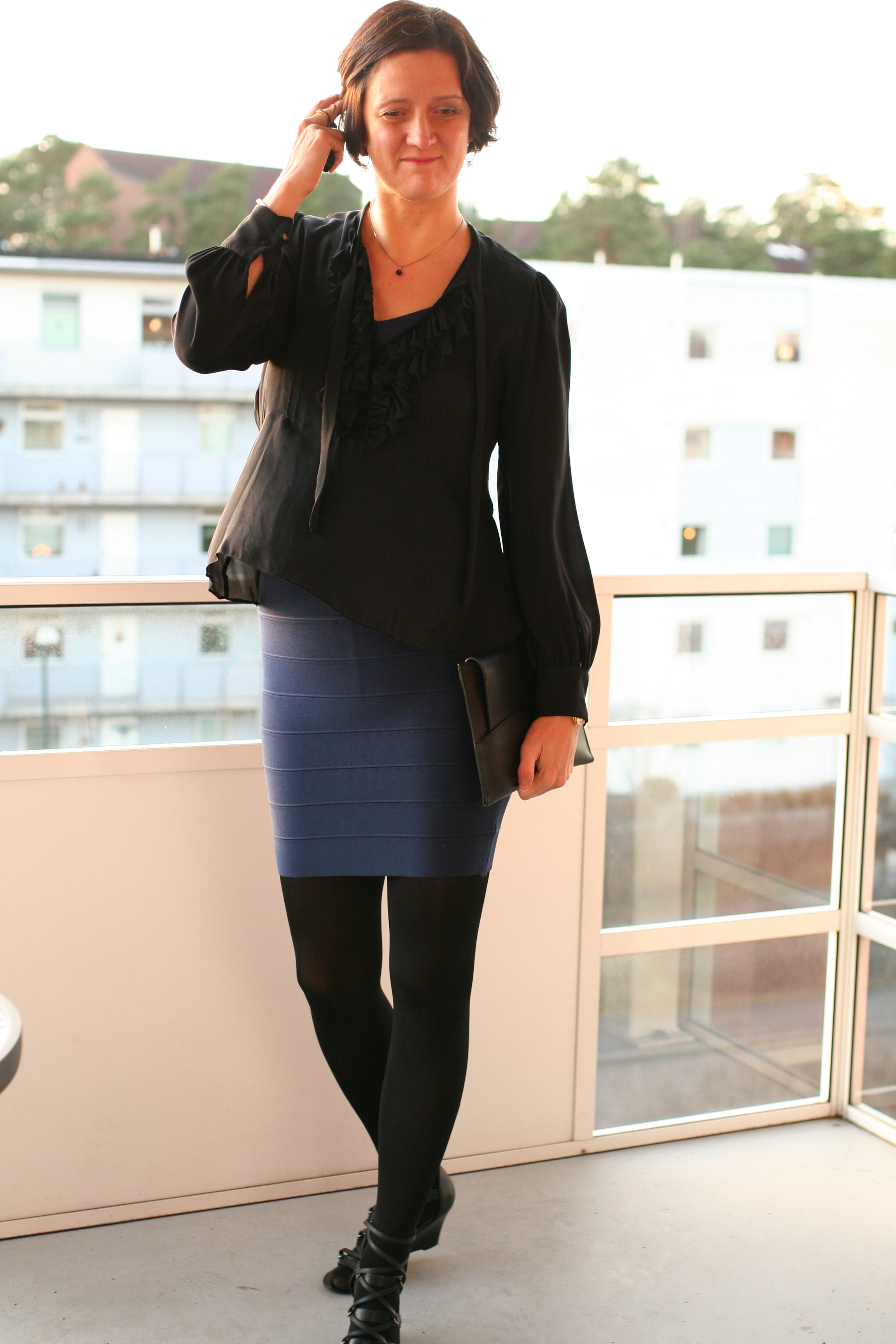 Tall Girl's Fashion // Layer a top over a tight dress