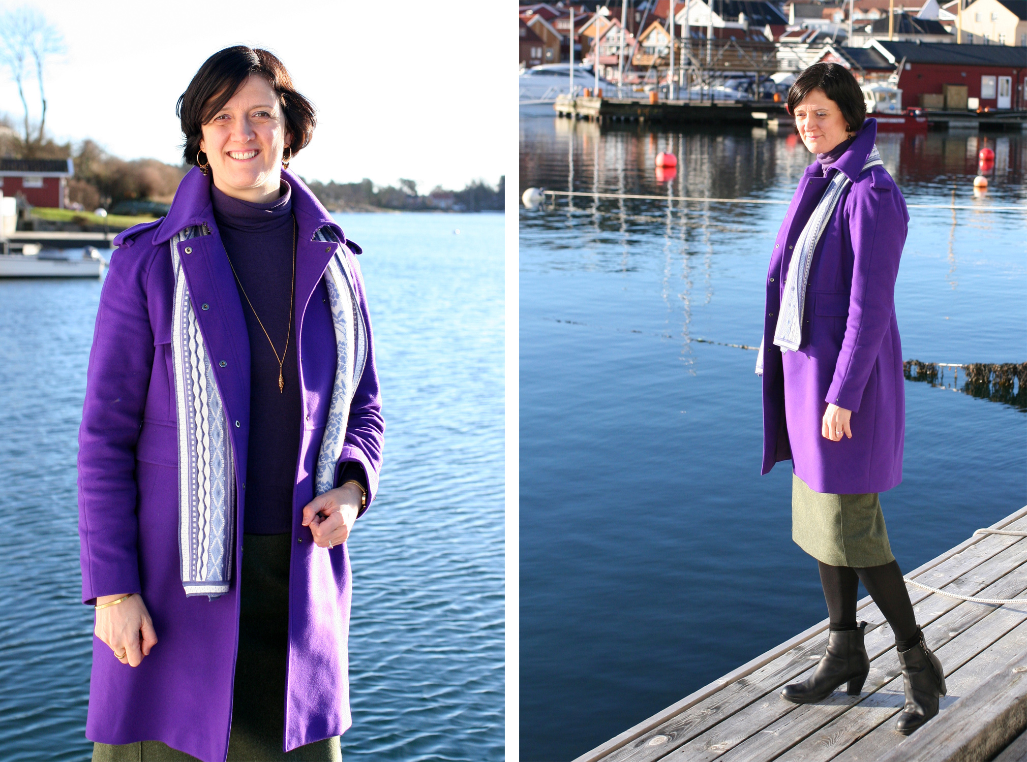 Tall Girl's Fashion // Matching purple and green