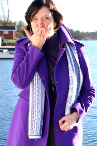 Cruising Grimstad In Purple & Green