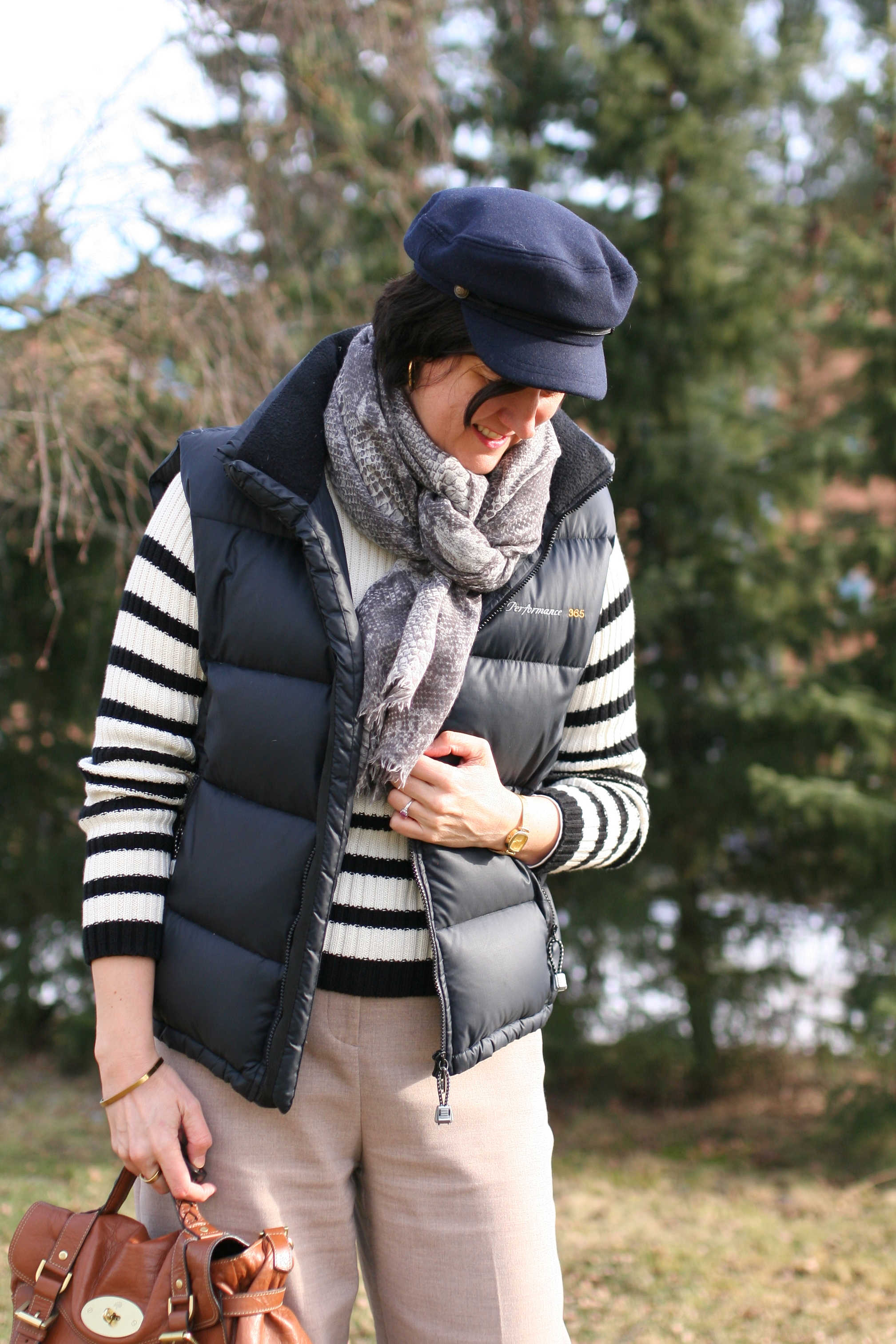 Tall Girl's Fashion // Wishlist to reality -- white/black striped chunky sweater